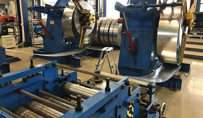 Autostacker's Galvanized Deck Roll Forming Machine