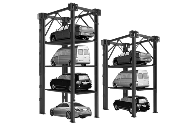 Triple Stacker Parking Lifts